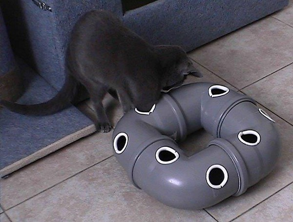 Игрушка для кошки своими руками